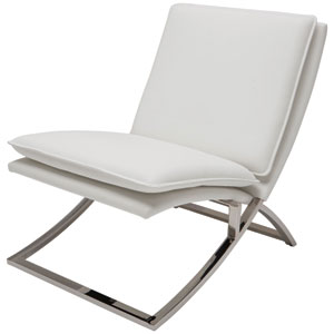 Neo White Lounger Chair