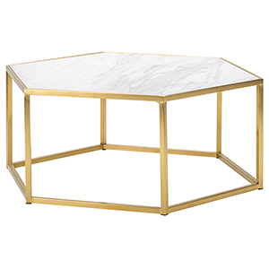 Hexion White and Gold Coffee Table