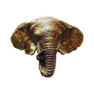 Antique Brass Goliath Elephant Bin Pull
