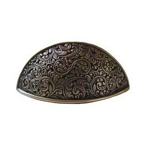 Antique Brass Saddleworth Bin Pull
