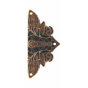 Dark Solid Bronze Cicada Hinge Plate
