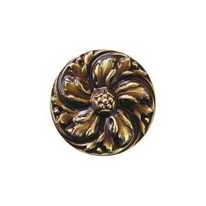 Antique Brass Chrysanthemum Knob
