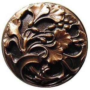 Antique Bronze Florid Leaves Knob