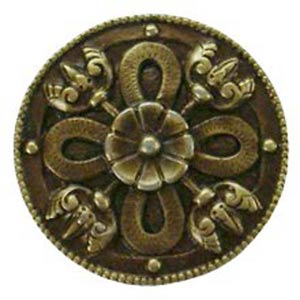 Antique Brass Celtic Shield Knob