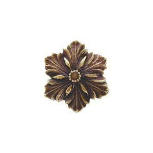 Antique Brass Opulent Flower Knob