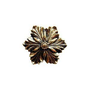 Brite Brass Opulent Flower Knob