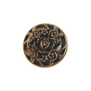Antique Brass Saratoga Rose Knob