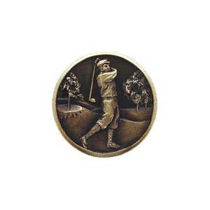 Antique Brass Gentleman Golfer Knob