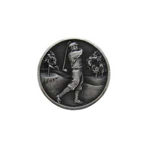 Antique Pewter Gentleman Golfer Knob