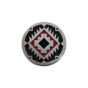 Red and Black Pewter Southwest Treasure Knob