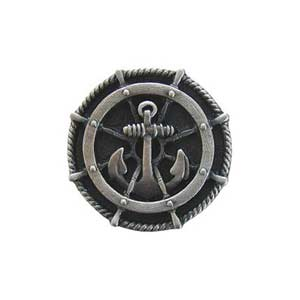 Antique Pewter Ship's Wheel knob