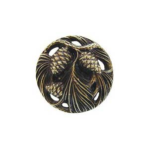 Antique Brass Cones and Boughs Knob