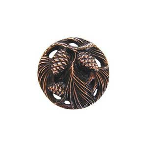 Antique Copper Cones and Boughs Knob