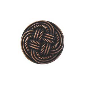 Antique Copper Classic Weave Knob