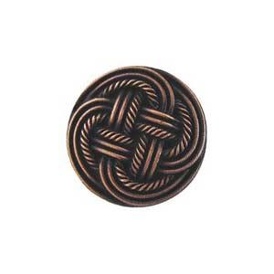 Antique Copper Classic Weave Knob