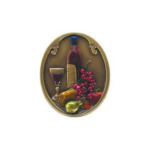 Hand Tinted Brass Best Cellar Knob