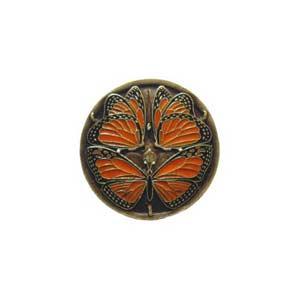 Brass Monarch Butterflies Knob