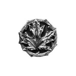 Antique Pewter Maple Leaf Knob