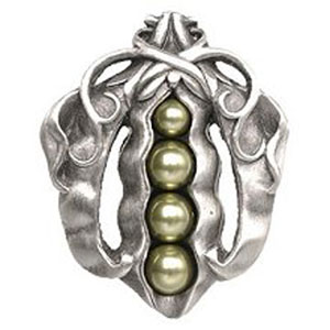 Antique Pewter Pearly Peapod Knob