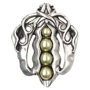 Brilliant Pewter Pearly Peapod Knob