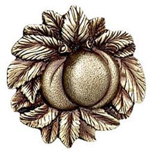 Antique Brass Georgia Peach Knob