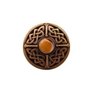 Copper Tiger Eye Celtic Jewel Knob