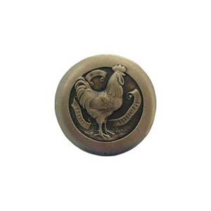 Antique Brass Rooster Knob