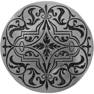 Brilliant Pewter Renaissance Etch Knob