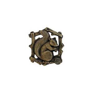 Antique Brass Grey Squirrel Knob-Left