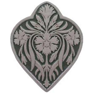 Antique Pewter and Sage Dianthus Knob