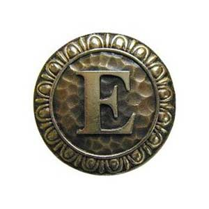 Antique Brass 'E' Knob