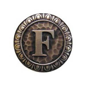 Antique Brass 'F' Knob