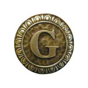 Antique Brass 'G' Knob