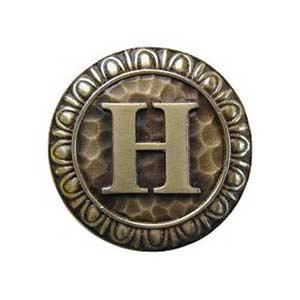 Antique Brass 'H' Knob