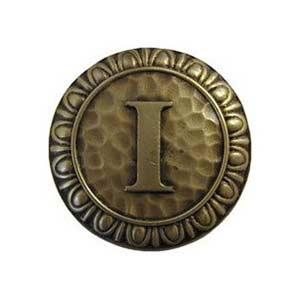 Antique Brass 'I' Knob