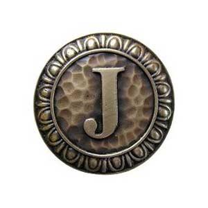 Antique Brass 'J' Knob