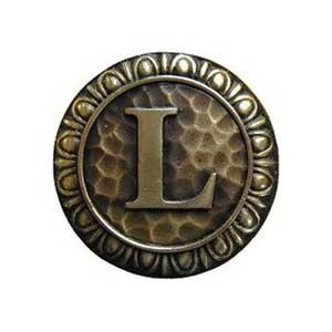 Antique Brass 'L' Knob