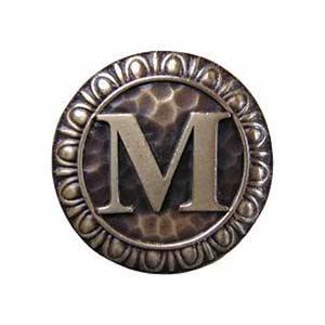 Antique Brass 'M' Knob