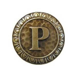 Antique Brass 'P' Knob