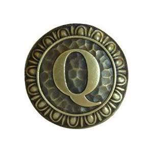 Antique Brass 'Q Knob