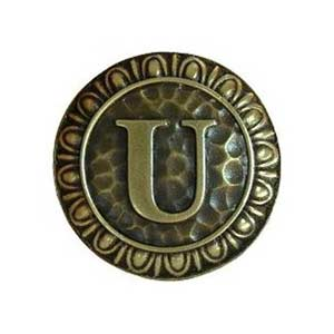 Antique Brass 'U' Knob