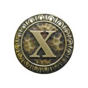 Antique Brass 'X' Knob