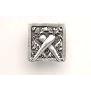 Antique Pewter Leafy Carrot Knob