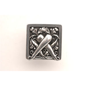 Brilliant Pewter Leafy Carrot Knob