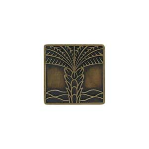 Antique Brass Royal Palm Knob