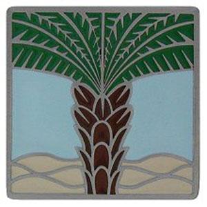 Antique Pewter/Pale Blue Royal Palm Knob