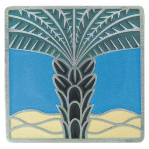Antique Pewter/Periwinkle Royal Palm Knob