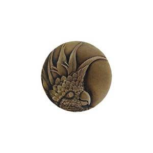 Antique Brass Large Cockatoo Knob-Left