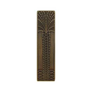 Antique Brass Royal Palm Vertical Pull