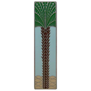 Antique Pewter/Pale Blue (Vertical) Royal Palm Pull